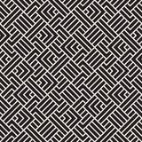 Abstract geometric pattern with stripes. Vector seamless background. Black and white lattice texture. Abstract geometric pattern with stripes. Vector seamless stock illustration