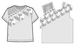 Abstract geometric pattern. For a t-shirts stock illustration
