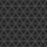 Abstract geometric pattern of triangles. Modern stylish texture. Repeating geometric tiles. Fashion design. Linear style. Symmetric composition of triangles Stock Photography