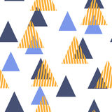 Abstract Geometric Pattern with the triangles. Scandinavian flat style. For printing on men`s and women`s clothing, paper, fabric, textile, gift wrap Stock Photography