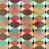 Abstract geometric pattern. Unusual bright colorful geometric abstract pattern of different elements Stock Images