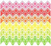 Abstract geometric pattern. Vector illustration. Abstract colorful geometric pattern on a white background. Vector illustration Royalty Free Stock Images