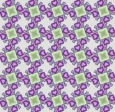 Abstract geometric pattern, vector seamless from abstract forms in ngreen and violet tones. Unusual and simple abstract geometric pattern, vector seamless from royalty free illustration