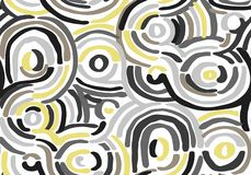 Abstract geometric pattern with wavy lines. Doodle backgrounded. Seamless vector background. vector illustration