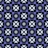 Abstract geometric pattern with winter flowers Stock Photos