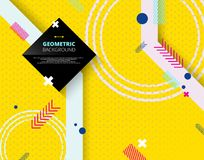 Abstract of geometric pattern on yellow step background. Illustration vector eps10 royalty free illustration
