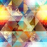 Abstract geometric patternd with grunge elements Stock Photo