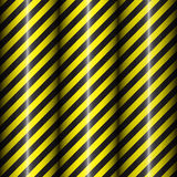 Abstract geometric patterns with diagonal black and yellow stripes. Black gradient. Vector illustration Royalty Free Stock Photos