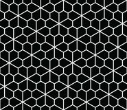 Abstract geometric pentagon seamless floral pattern. Abstract geometric pentagon grid seamless floral pattern stock illustration