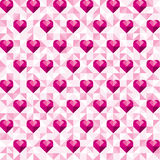 Abstract geometric pink hearts pattern Royalty Free Stock Photo