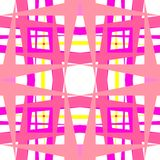Abstract geometric pink shapes Royalty Free Stock Photos