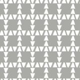 Abstract geometric plaid seamless vector pattern of triangle with jagged edge on grey background. Abstract geometric plaid seamless vector pattern of white Stock Images