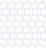 Abstract geometric polka dot seamless vector pattern. Stock Images