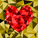 Abstract geometric Polygon heart valentine background. Colorful mosaic pattern Royalty Free Stock Photography