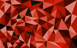 Abstract geometric Polygon heart valentine background. Colorful mosaic pattern Stock Image