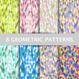 Abstract Geometric Polygon Patterns set Royalty Free Stock Photo