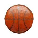 Abstract geometric polygonal basketball. Royalty Free Stock Photography