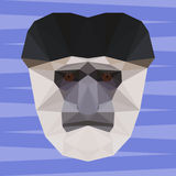 Abstract geometric polygonal colobus monkey cartoon portrait. Background for use in design Royalty Free Stock Images