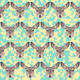 Abstract geometric polygonal deer seamless pattern Royalty Free Stock Photography