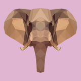 Abstract geometric polygonal elephant Royalty Free Stock Images