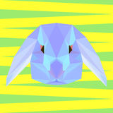 Abstract geometric polygonal rabbit background Royalty Free Stock Images