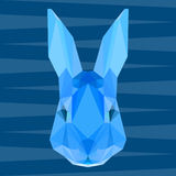 Abstract geometric polygonal rabbit background Stock Photography
