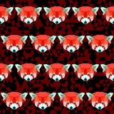 Abstract geometric polygonal red panda seamless pattern Royalty Free Stock Image