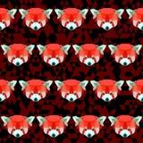 Abstract geometric polygonal red panda seamless pattern Royalty Free Stock Image