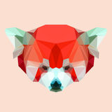 Abstract geometric polygonal red panda Royalty Free Stock Image
