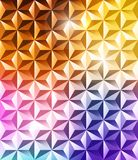 Abstract geometric polygonal shiny background Royalty Free Stock Photography