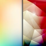 Abstract geometric polygonal shiny background Stock Photos