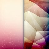 Abstract geometric polygonal shiny background Royalty Free Stock Photo