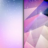 Abstract geometric polygonal shiny background Royalty Free Stock Image