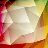 Abstract geometric polygonal shiny background Stock Photography