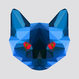 Abstract geometric polygonal siamese cat Stock Image