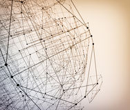Abstract geometric polygonal structure Royalty Free Stock Photos