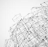 Abstract geometric polygonal structure Royalty Free Stock Photography