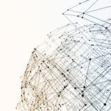 Abstract geometric polygonal structure Stock Images
