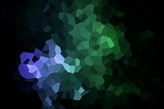 Abstract geometric polygons and triangles. Colorful abstract geometric background with  solid figures. Abstract modern background with  green and blue polygons Royalty Free Stock Photo
