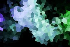Abstract geometric polygons and triangles. Colorful abstract geometric background with  solid figures. Abstract modern background with  green and blue polygons Royalty Free Stock Photos