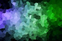Abstract geometric polygons and triangles. Colorful abstract geometrical composition, geometric pattern from blue and green various polygons and triangles  on Royalty Free Stock Image