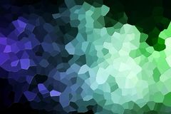 Abstract geometric polygons and triangles. Colorful abstract geometrical composition, geometric pattern from blue and green various polygons and triangles  on Stock Photography