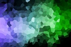 Abstract geometric polygons and triangles. Colorful abstract geometrical composition, geometric pattern from blue and green various polygons and triangles  on Stock Photo