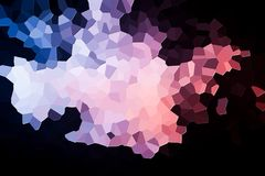 Abstract geometric polygons and triangles. Colorful abstract geometrical composition, geometric pattern from blue, white  and pink various polygons and triangles Stock Images
