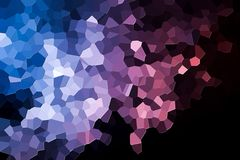 Abstract geometric polygons and triangles. Colorful abstract geometrical composition, geometric pattern from blue, white  and pink various polygons and triangles Stock Photos