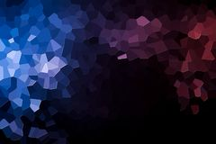 Abstract geometric polygons and triangles. Colorful abstract geometrical composition, geometric pattern from blue, white  and pink various polygons and triangles Royalty Free Stock Image