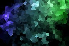 Abstract geometric polygons and triangles. A photograph of an abstract geometric pattern from various polygons and triangles of green and blue Stock Images