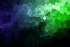 Abstract geometric polygons and triangles. A photograph of an abstract geometric pattern from various polygons and triangles of green and blue Royalty Free Stock Images