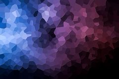 Abstract geometric polygons and triangles. A photograph of an abstract geometric pattern from various polygons and triangles of pink and blue Royalty Free Stock Photos