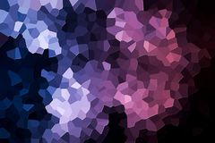 Abstract geometric polygons and triangles. A photograph of an abstract geometric pattern from various polygons and triangles of pink and blue Royalty Free Stock Photography